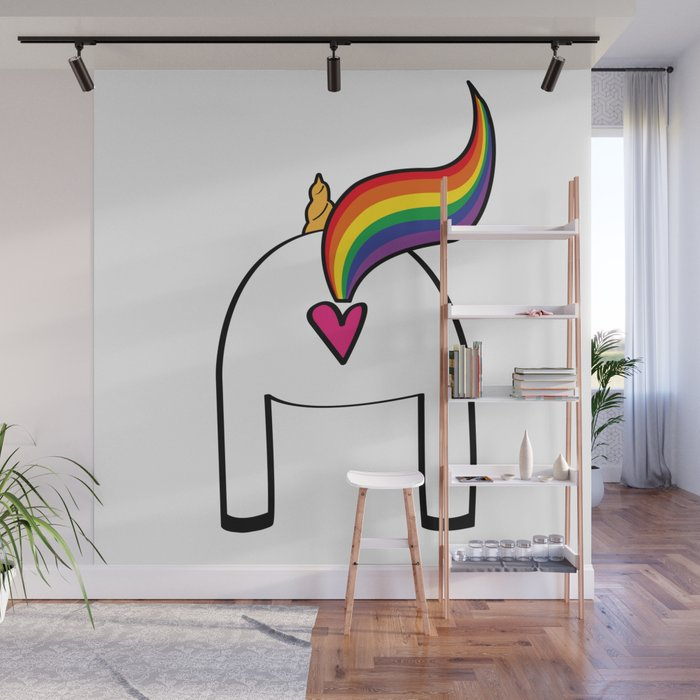Unicorn love at Society6.com. Caricatures i il·lustracions personalitzades, làmines i prints a Pau Ricart. Idees il·lustrades