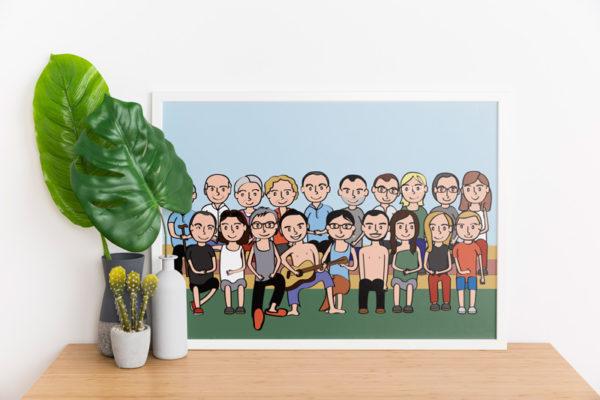 Ilustraciones personalizadas, regalos únicos y originales. Regalo personalizado